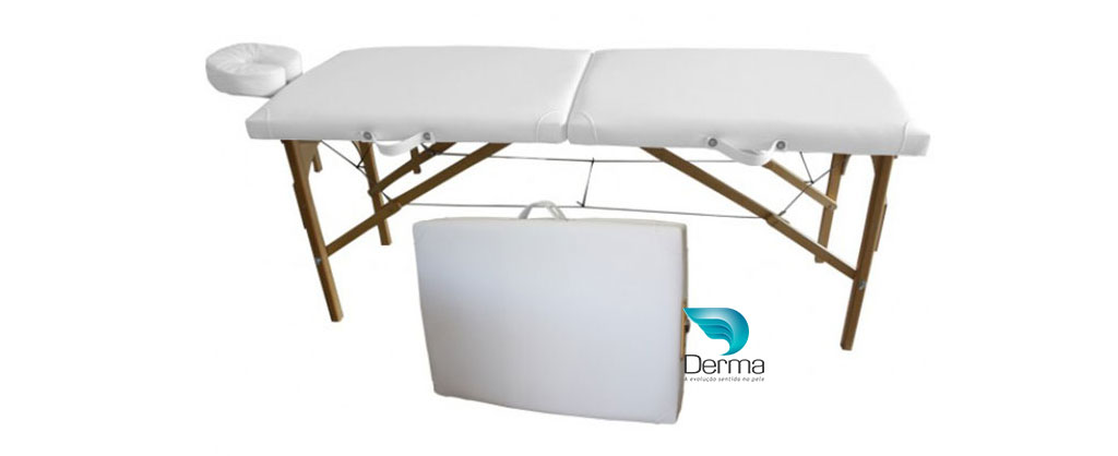 Mesa de massagem dobrável portátil Stilus Branca