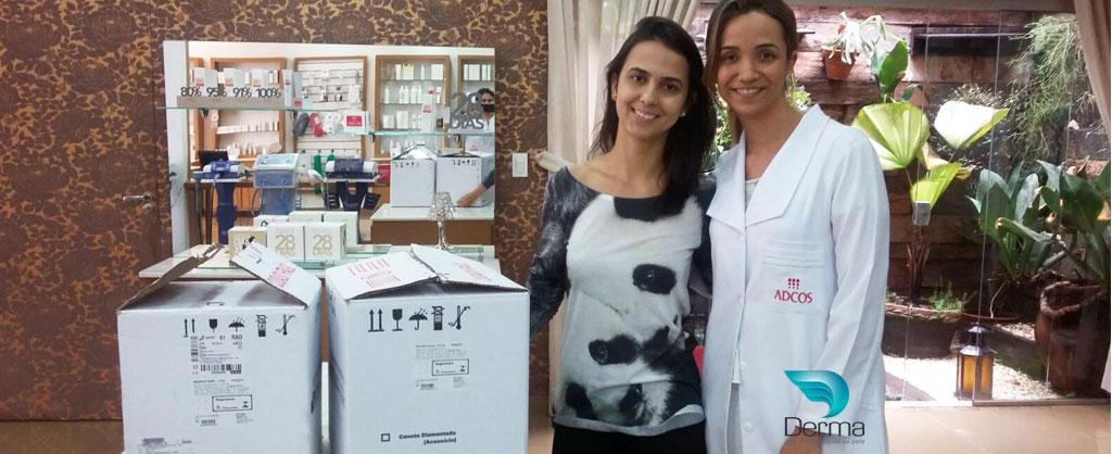 treinamento personalizado da profissional Larissa que adquiriu os equipamentos ibramed dermothonus slim e der