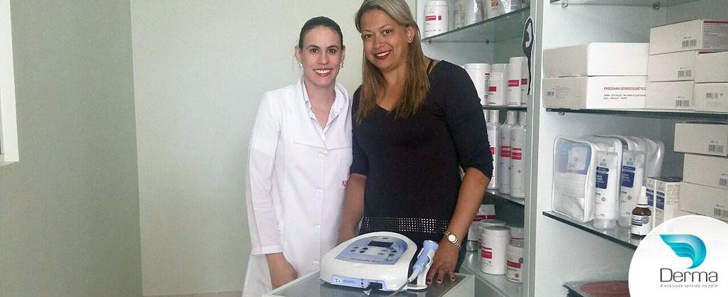 Alessandra escolheu a tecnologia Sonopulse II Ibramed