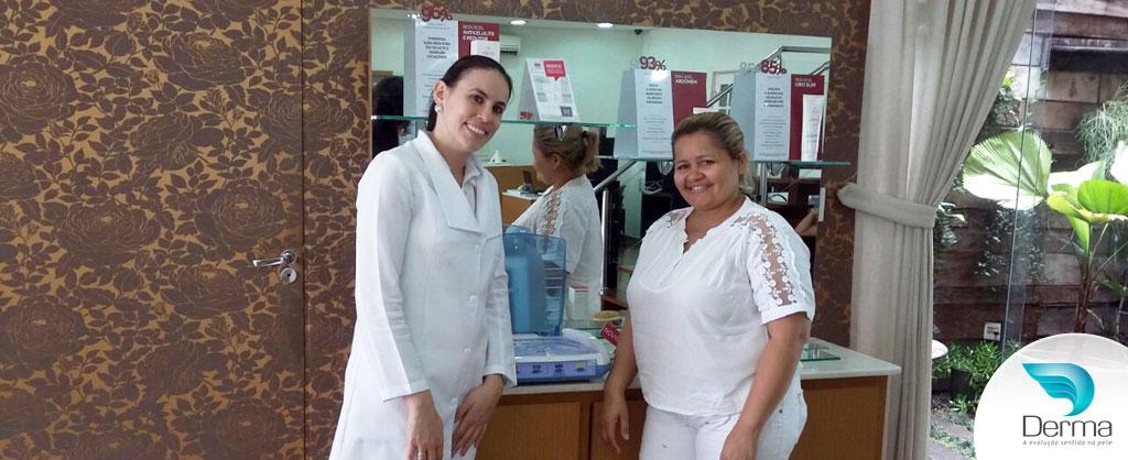 Lindalva recebeu treinamento personalizado da tecnologia Sonopulse II na Derma