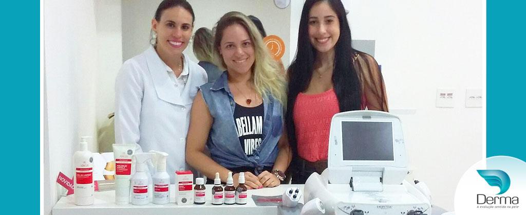 Patrícia Zancanella e Tainara Silva na Derma com Tecnologia Hertix Octopolar KLD