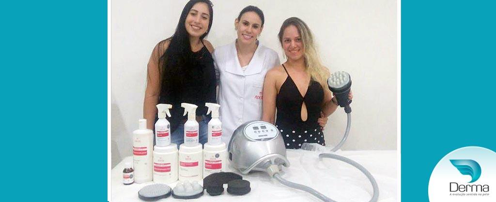 Patricia Zancanella e Tainara realizaram o treinamento da tecnologia Vibrocell da Estek