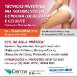 08 e 09/11 - Técnicas Injetáveis no Tratamento da Gordura Localizada e Celulite