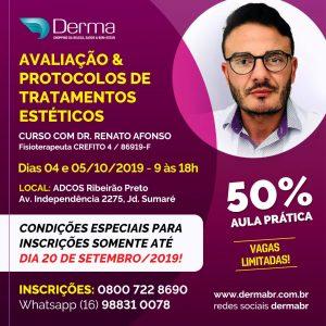 04 e 05/10 - Avaliação & Protocolos de Tratamentos Estéticos com Dr Renato Afonso