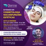 12 e 13/07 - Extensão em Cosmetologia nas Disfunções Estéticas com Dr Renato Afonso