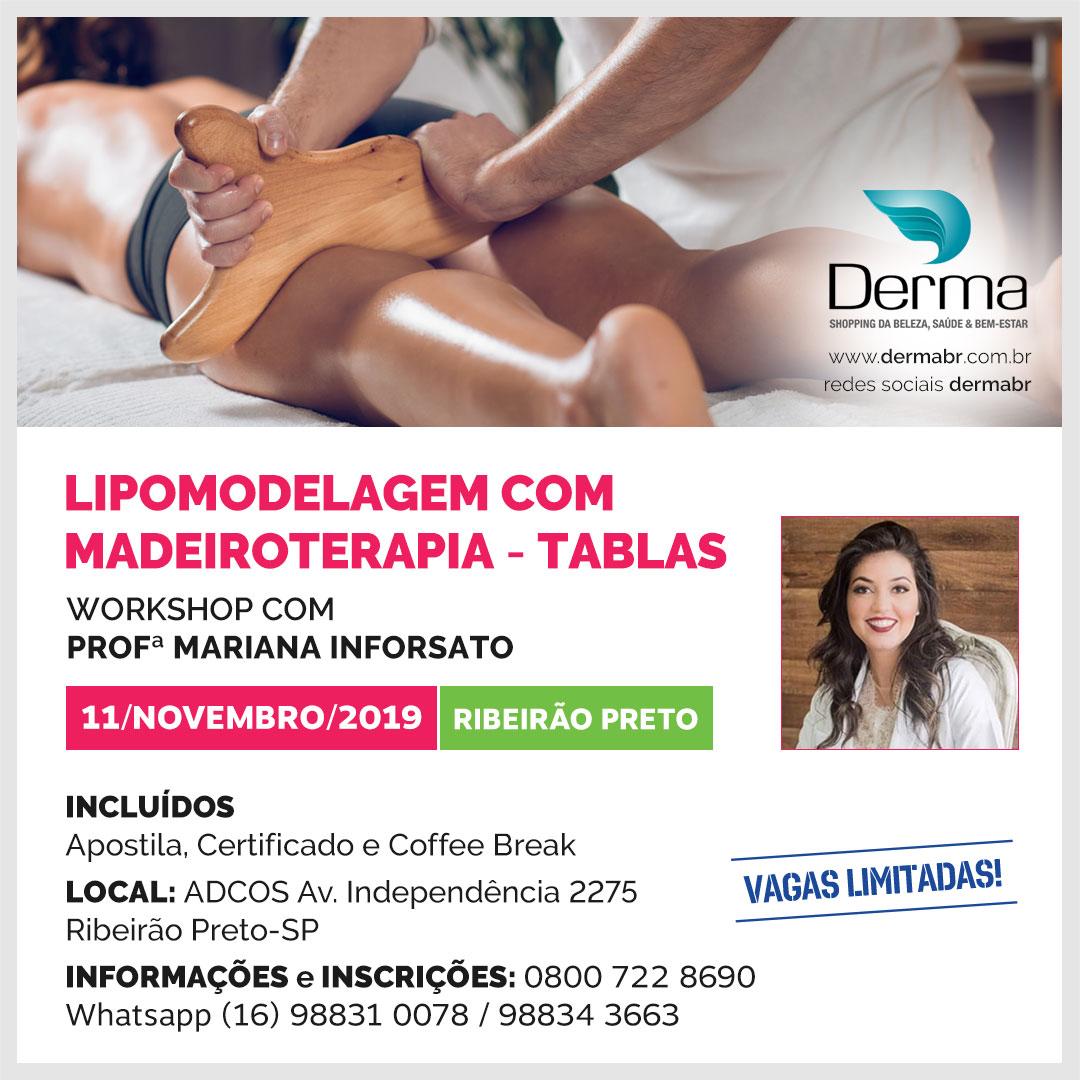 11/11 - Lipomodelagem com Madeiroterapia - Tablas