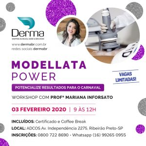 03/02 – Modellata Power Workshop com a Profª Mariana Inforsato