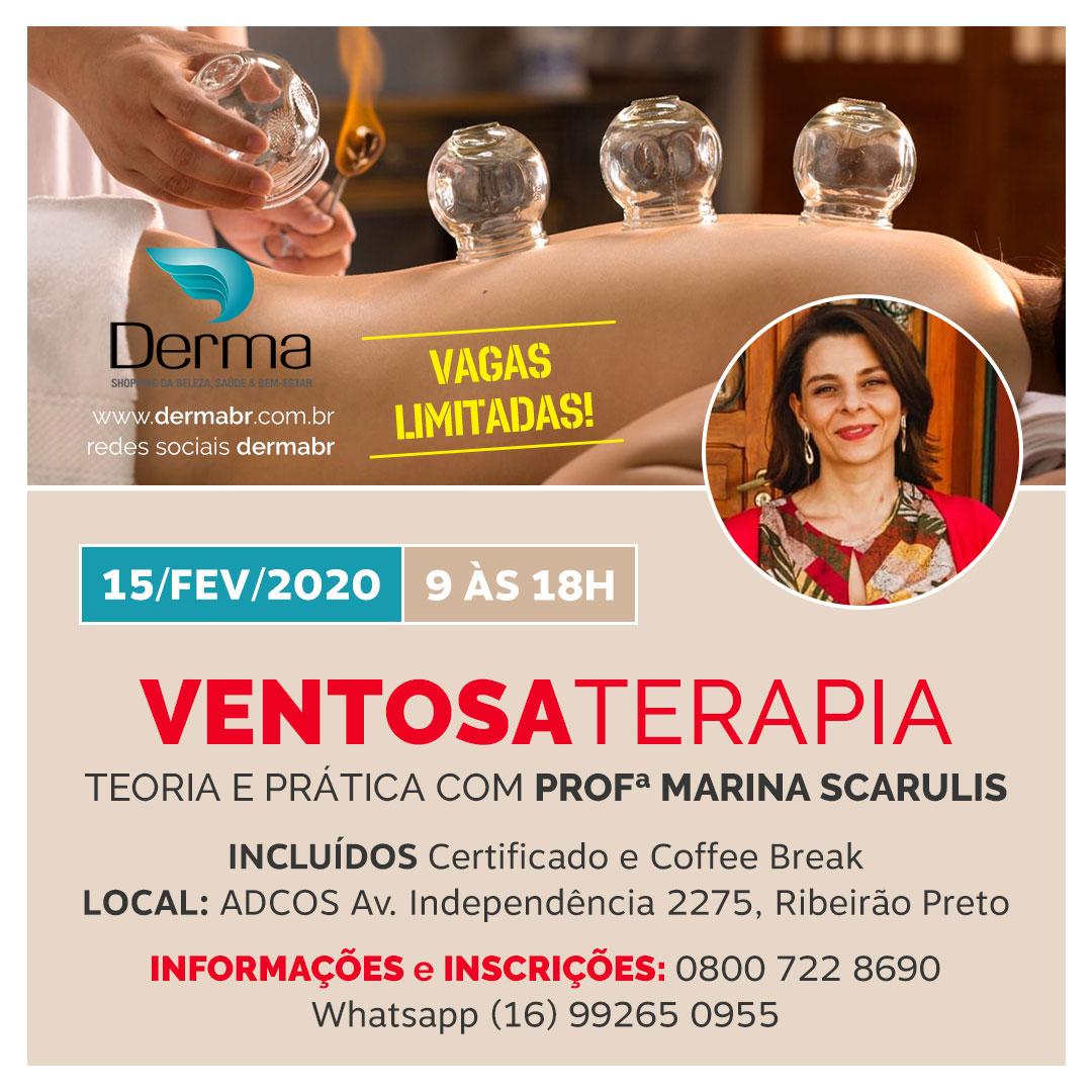 15/02 - Ventosaterapia com a Profª Marina Scarulis