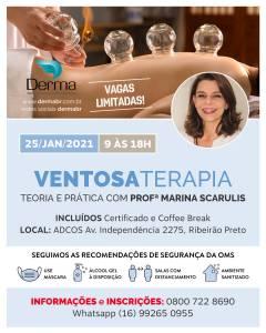 25/01 - Ventosaterapia Teoria e Pratica com Profª Marina Scarulis