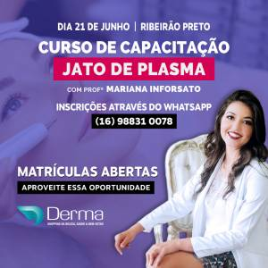 21/06 Jato de Plasma Teoria e Prática com a Profª Mariana Inforsato