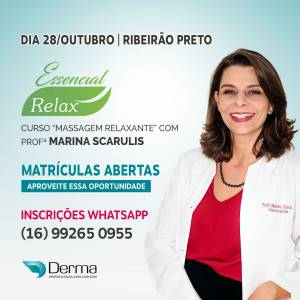 28/10 - Essencial Relax Curso Massagem Relaxante com a Profª Marina Scarulis