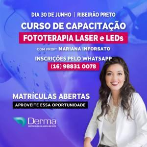 30/06 Fototerapia LASER e LEDs Curso com a Profª Mariana Inforsato
